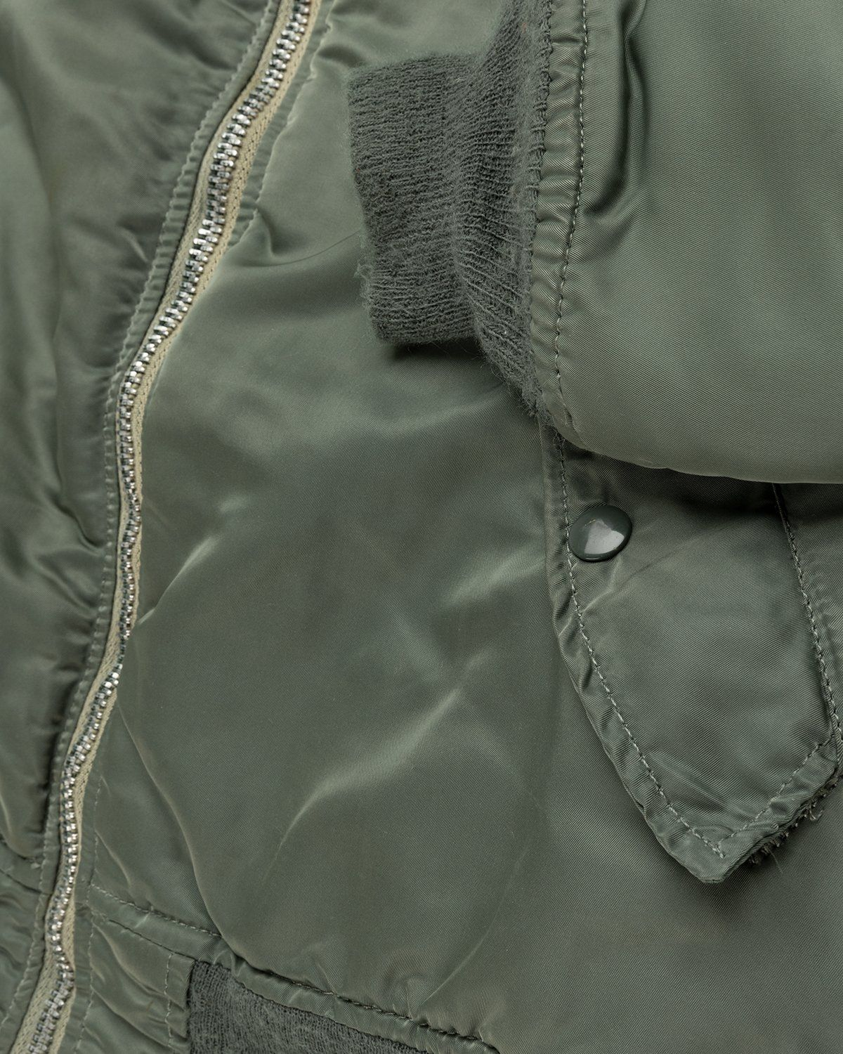 Highsnobiety – Berlin Berlin Embroidered Vintage MA-1 Green - Image 5