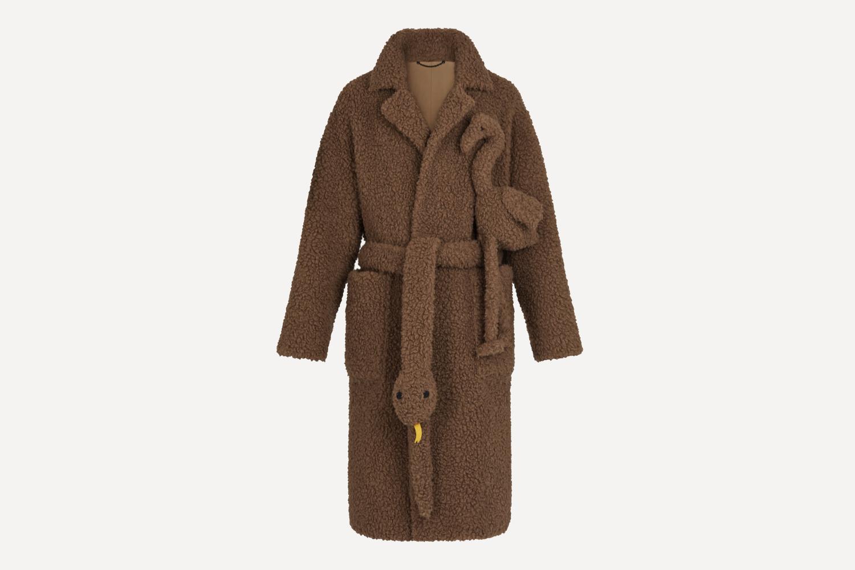 Woven Shearling Coat