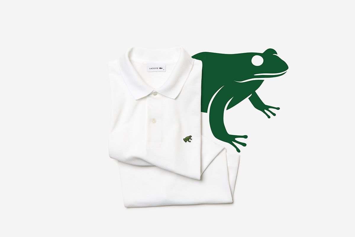 "Lacoste Replaces Its Crocodile Logo in New ""Save Our Species"" Polo Shirt Capsule"