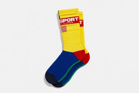 Multicolor Split Crew Sock