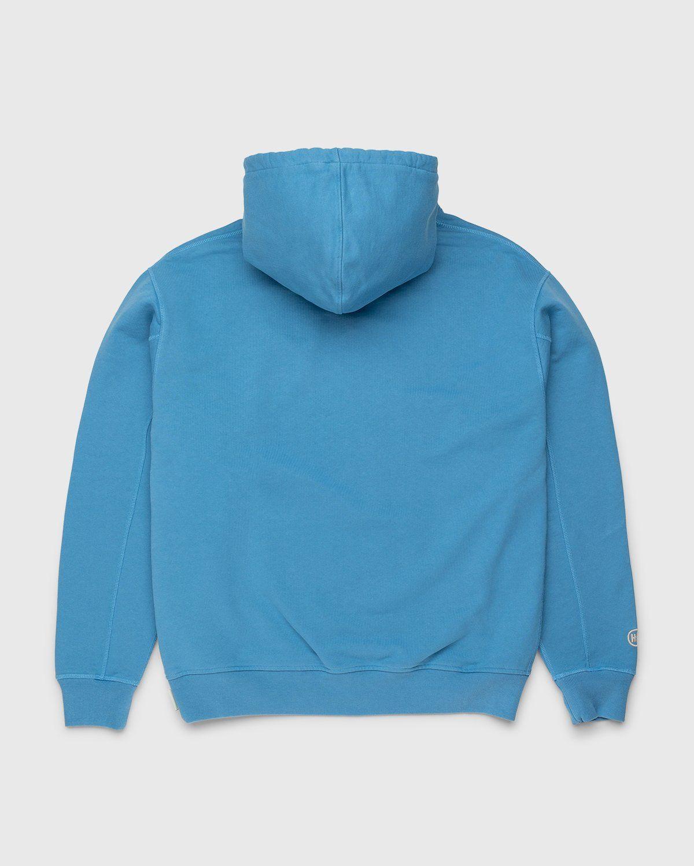 Highsnobiety – Logo Hoodie Blue - Image 2