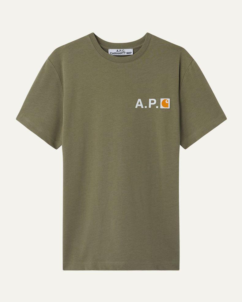 A.P.C. x Carhartt WIP — Fire T-Shirt Khaki