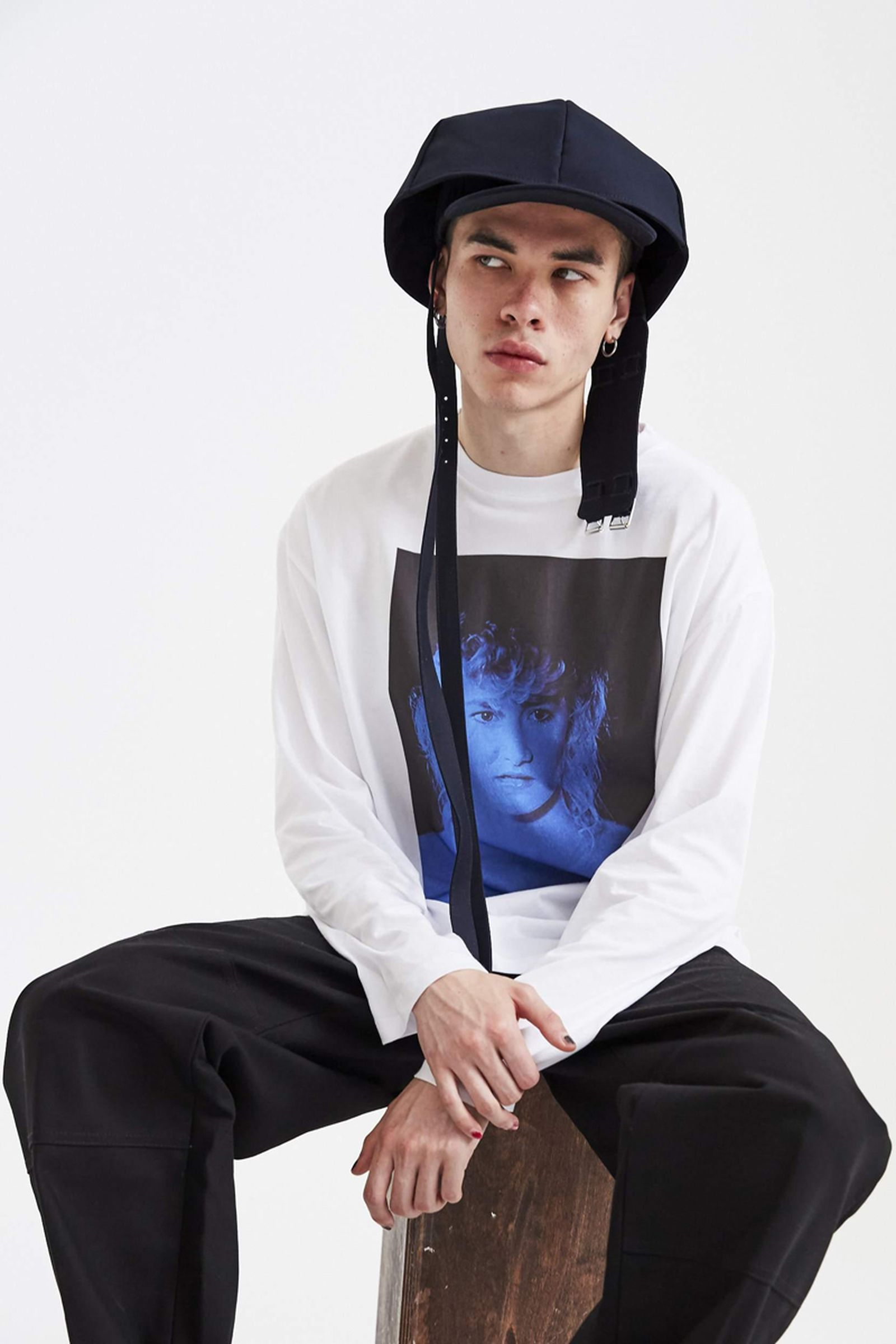 raf simons oversized fitted cap ssence