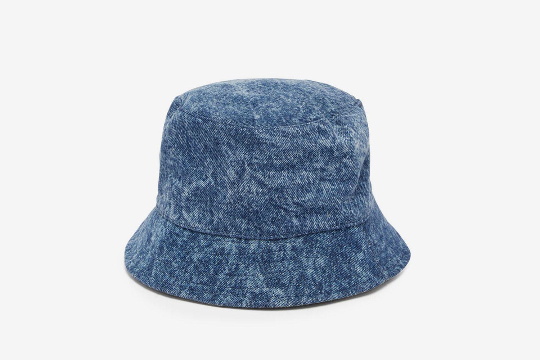 Haleyh Garment-Dyed Denim Bucket Hat