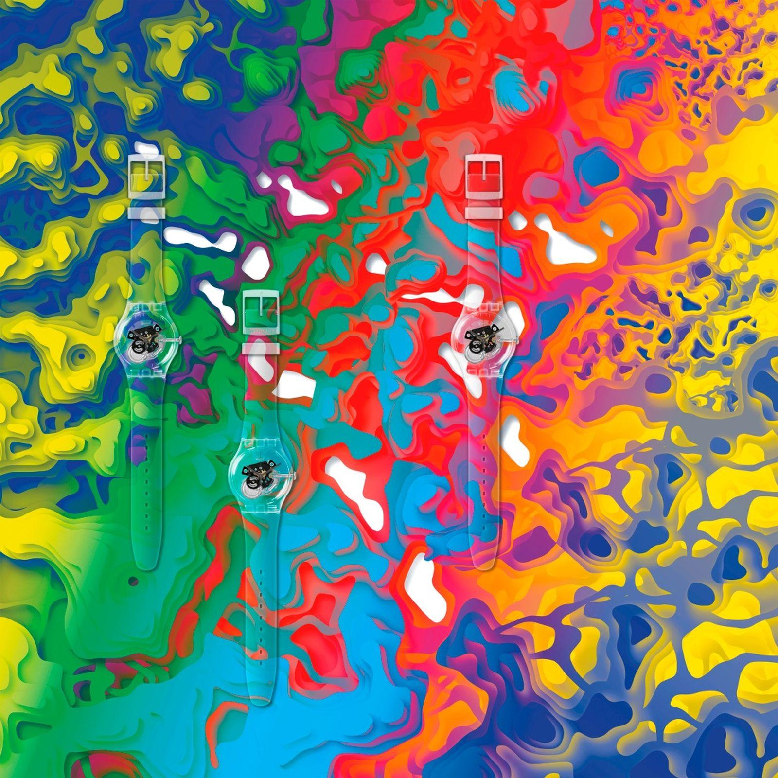 Swatch x Antony Demierre Topographic