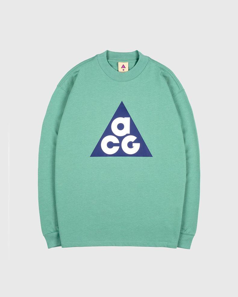 Nike ACG — M NRG ACG LS Big Tee Green