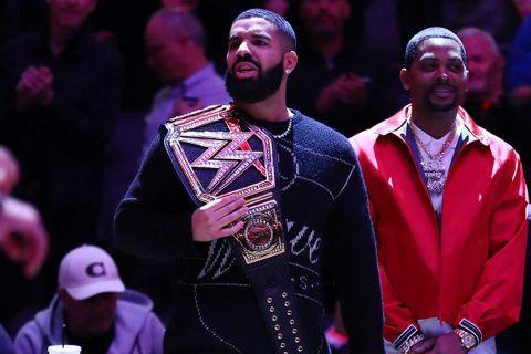 Drake at the Milwaukee Bucks vs. Toronto Raptors NBA game