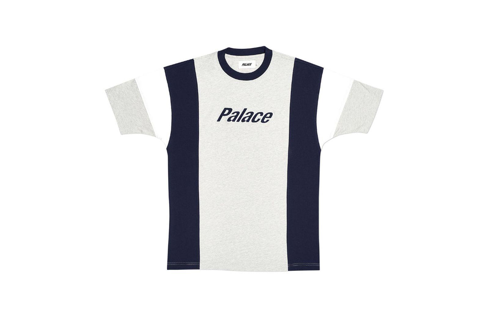 Palace 2019 Autumn T Shirt Duo Panel Navy Grey Front