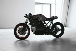 Bmw K1100 And Matching E Bike Get A Wild Graphic Treatment