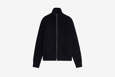 Wool & Cotton Zip Jumper