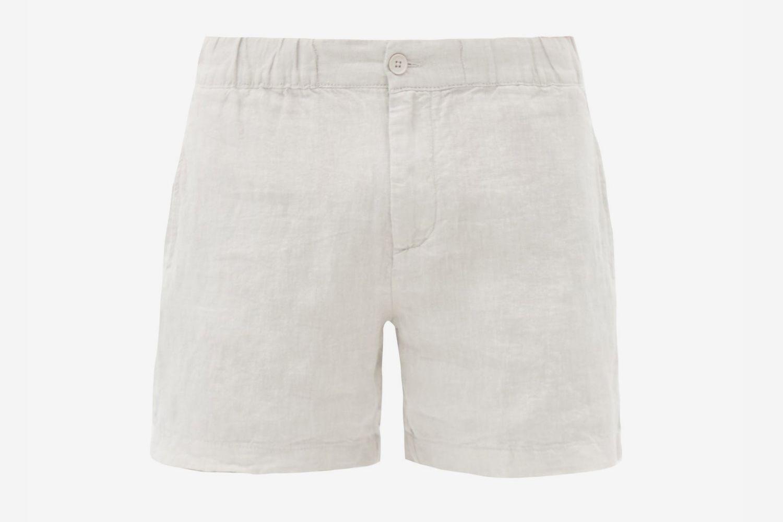Moe Linen-Poplin Shorts