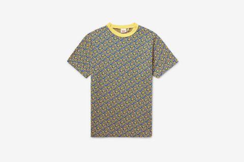1960s Floral Cotton-Jacquard T-Shirt