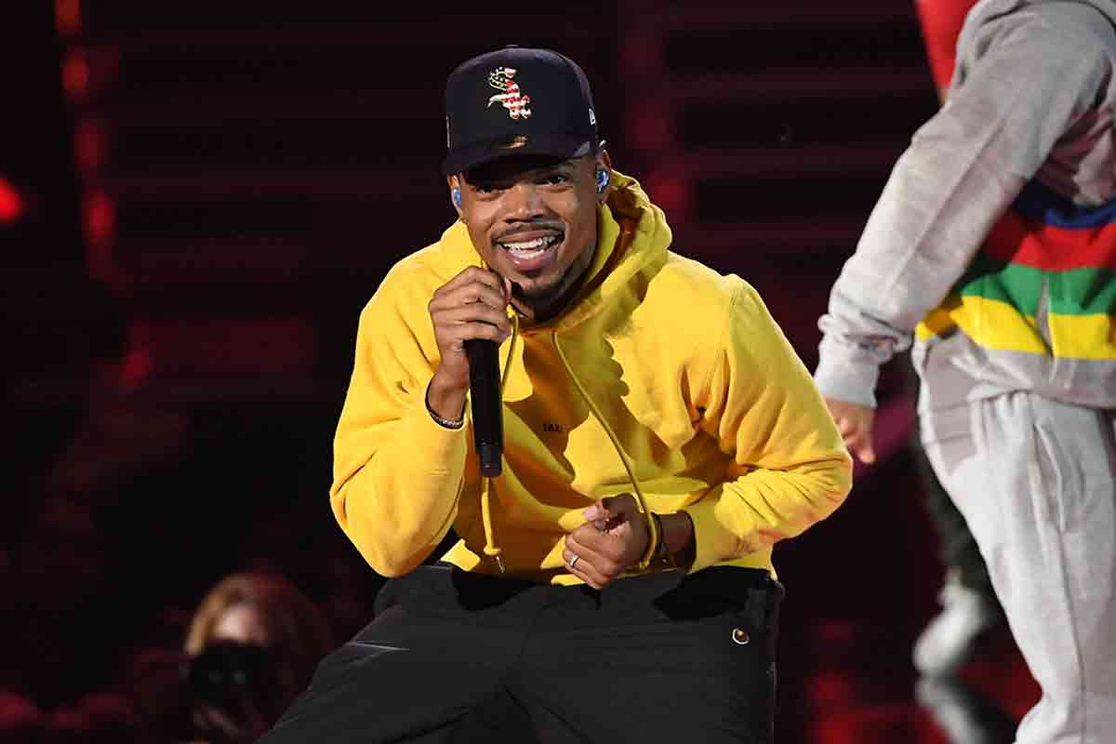 Chance the Rapper yellow hoodie