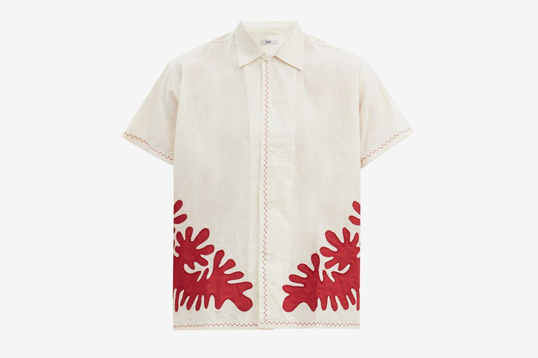 Setting Appliqué Cotton Shirt
