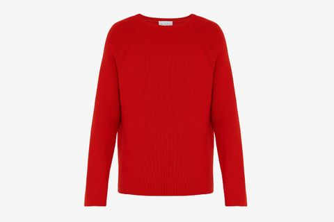 Crew-Тeck Merino-Wool Sweater