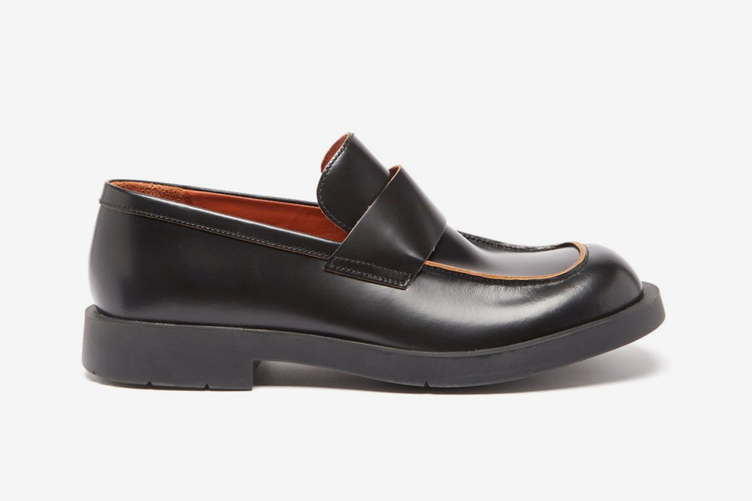1978 Raw-Edge Leather Loafers
