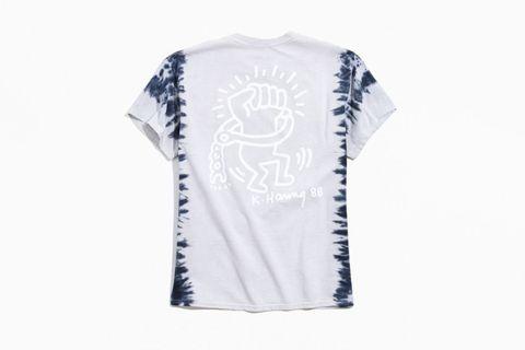Keith Haring Stripe-Dye T-Shirt