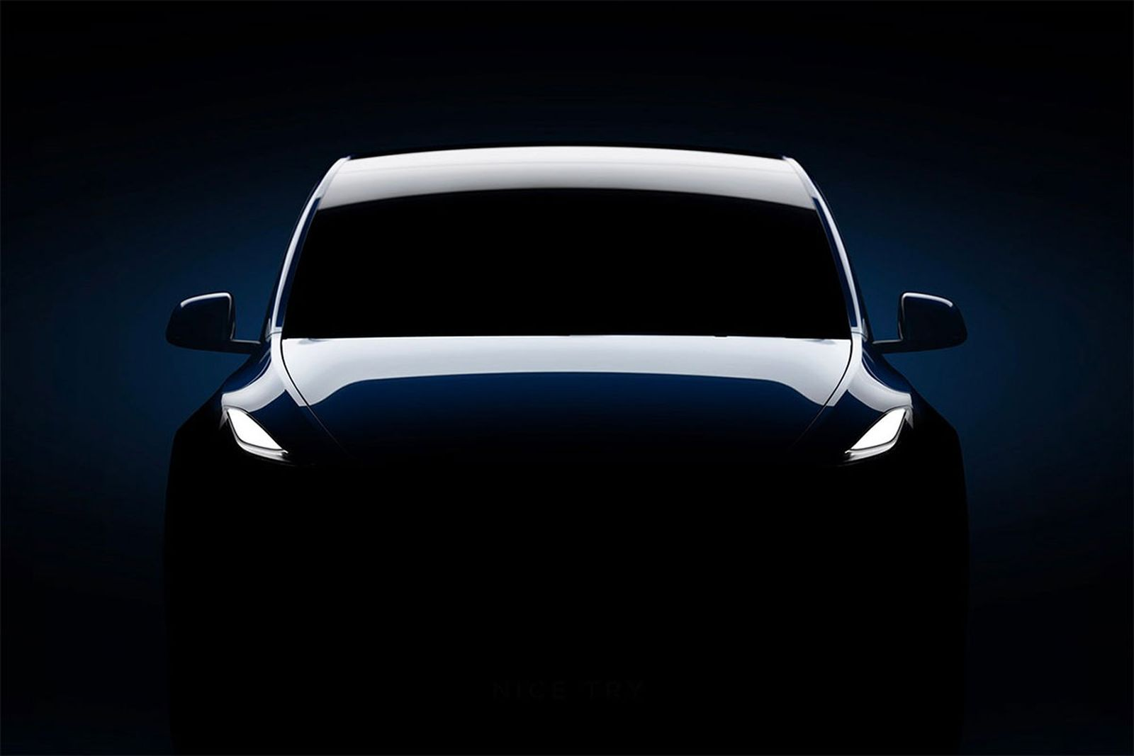 find hidden message teslas model y teaser Elon Musk Tesla Model Y