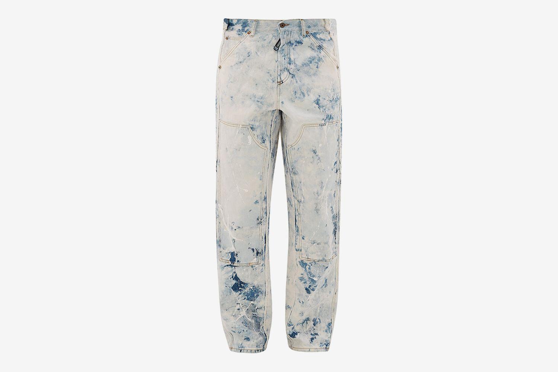 Reconstructed Paint-Print Carpenter Jeans