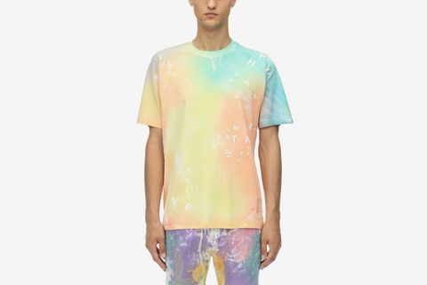Tie Dye Printed Cotton Jersey T-shirt