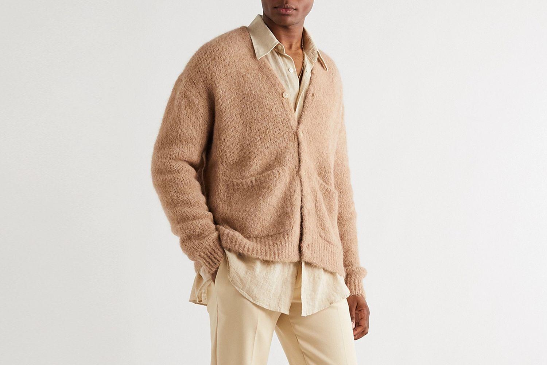Alpaca & Wool-Blend Cardigan