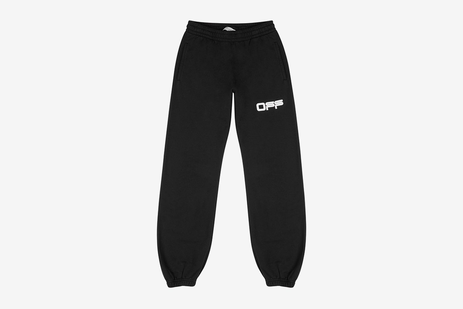 Airport Tape Printed Cotton Sweatpants