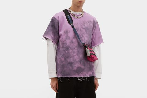 Tie Dye Denim T Shirt