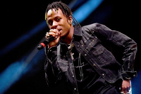 Rich the Kid performing on stage