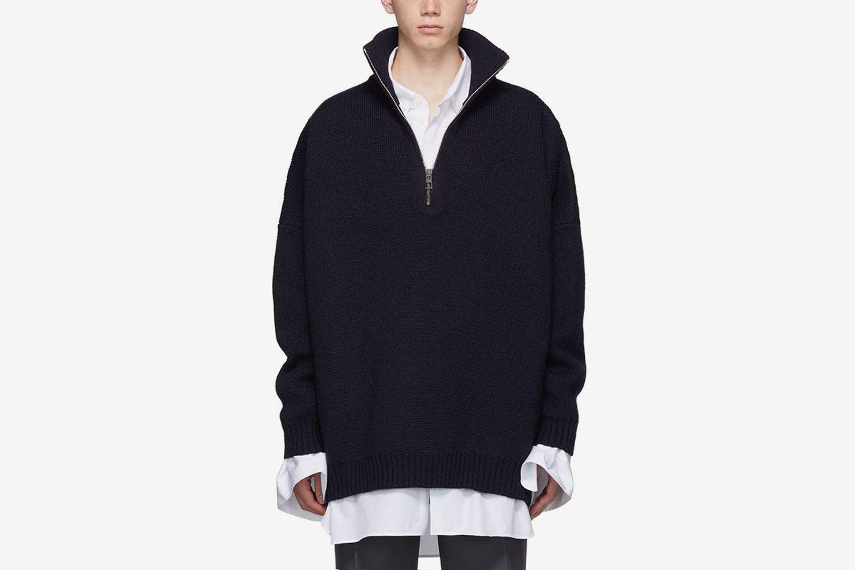 Oversized Zip Sweater