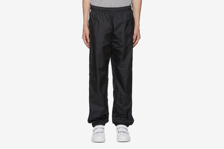 Face Motif Stripe Lounge Pants