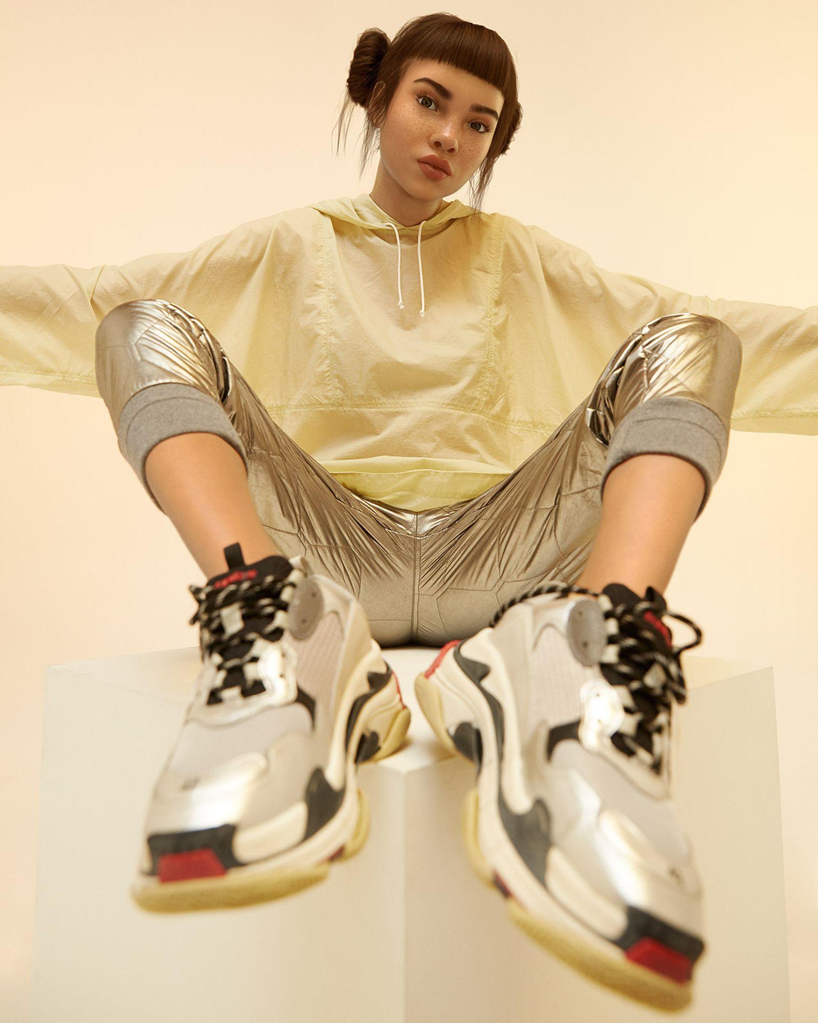 Jacket - OUR LEGACY, Pants - MONCLER, Sneakers - BALENCIAGA.