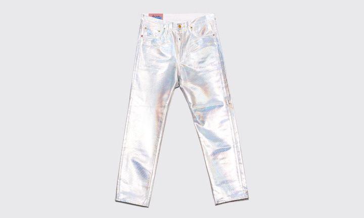 acne studios bla konst holographic jeans