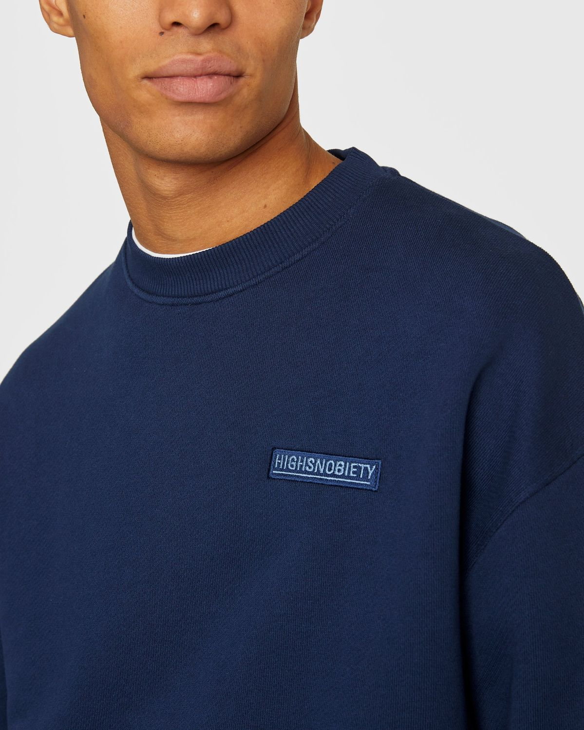 Highsnobiety Staples — Sweatshirt Navy - Image 5