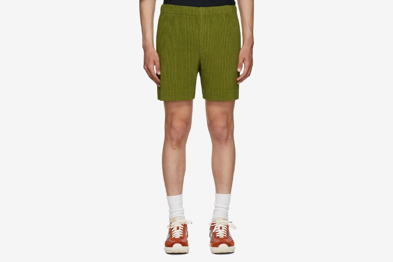 Heather Pleats Shorts