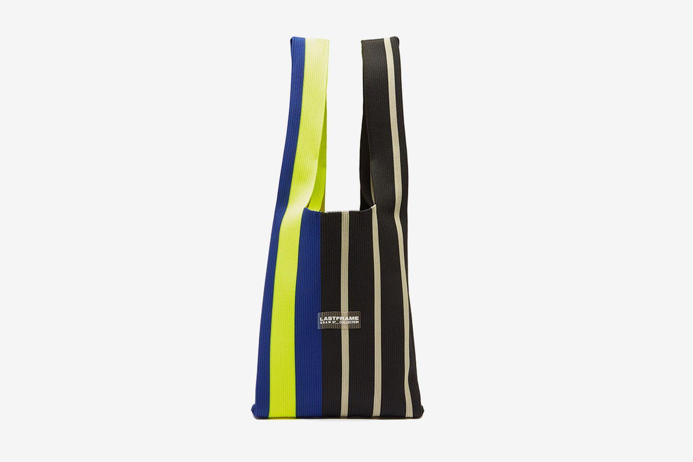 Contrast Stripe Tote Bag