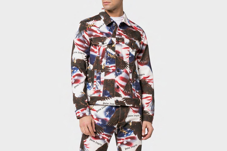 Eagle Print Denim Jacket