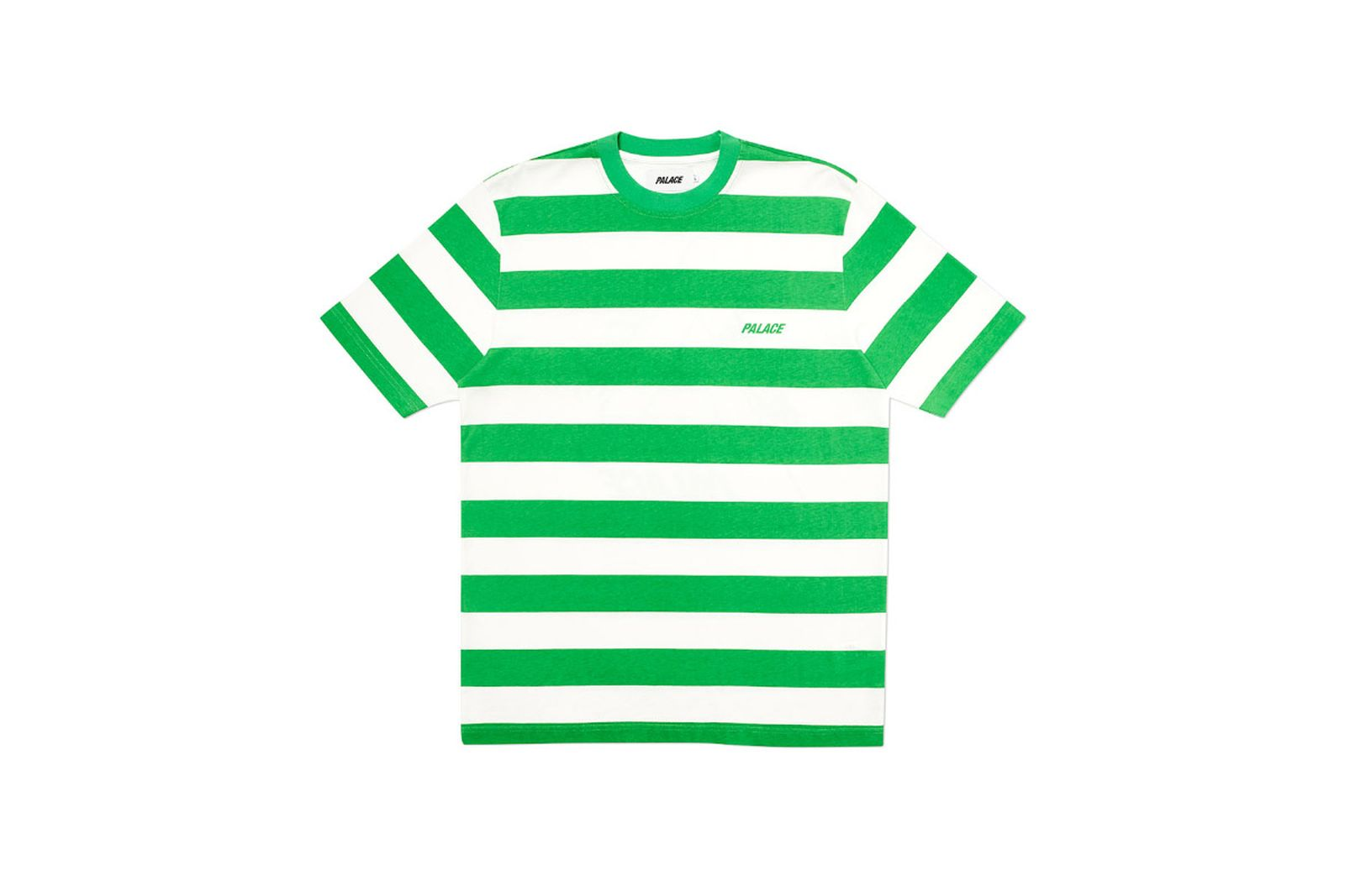 Palace 2019 Autumn T Shirt Heavy Stripe green front