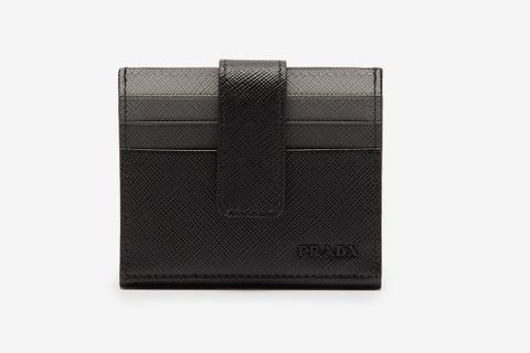 Gradient-Slot Saffiano-Leather Cardholder