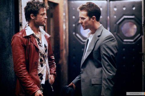 Brad Pitt Fight Club style