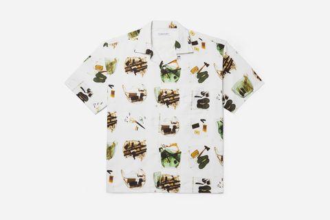 Camp-Collar Printed Shirt