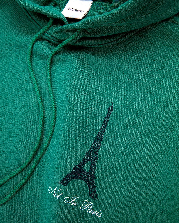 Highsnobiety — Not In Paris 3 Hoodie Green - Image 3