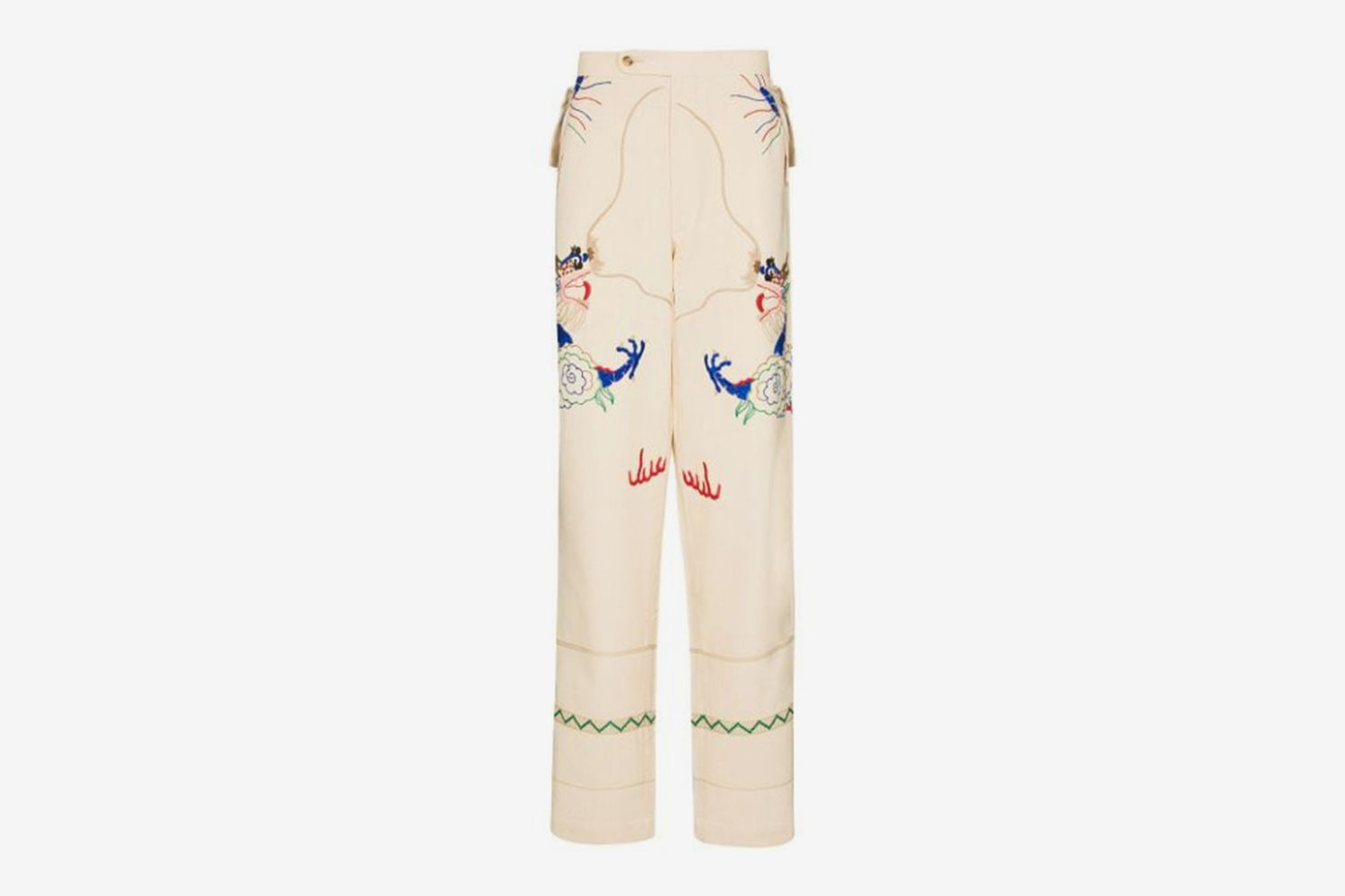 Dragon Tableau Embroidered Trousers