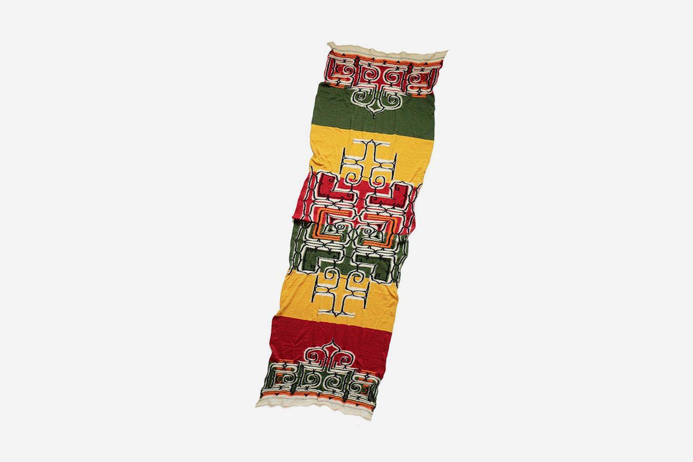 Compressed Wool Scarf Rasta Ainu