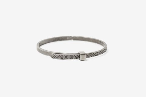 Intrecciato Oxidized Sterling Silver Bracelet