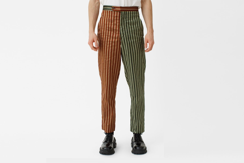 Duo Tone Silk Stripe Trouser