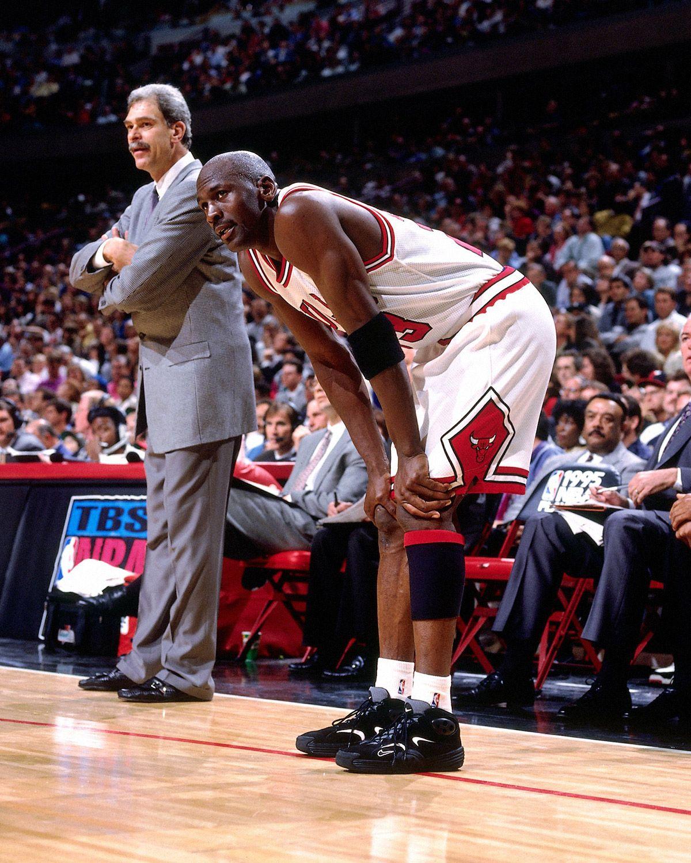Michael Jordan #23 of the Chicago Bulls