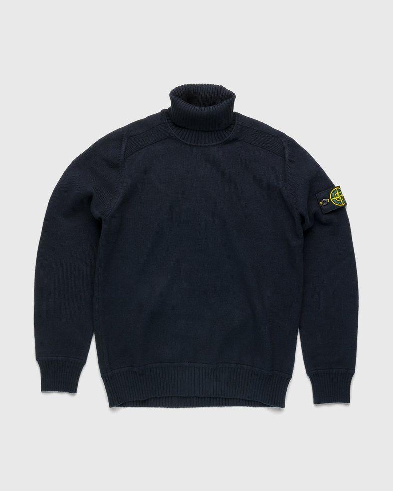 Stone Island – Knit Turtleneck Navy Blue