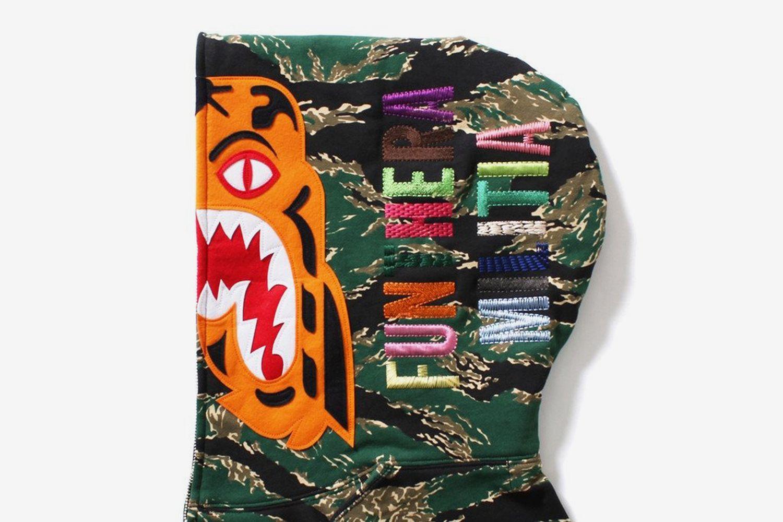 Tiger Camo Full Zip Hoodie
