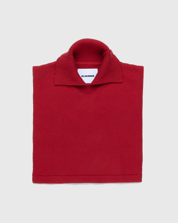 Jil Sander – Plastron Bib Red - Image 1