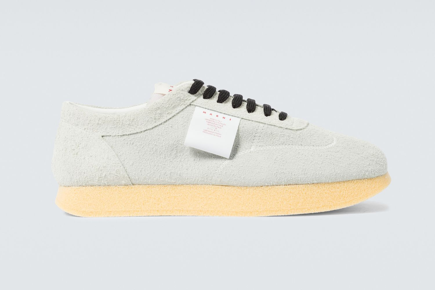 Logo Tag Suede Sneakers